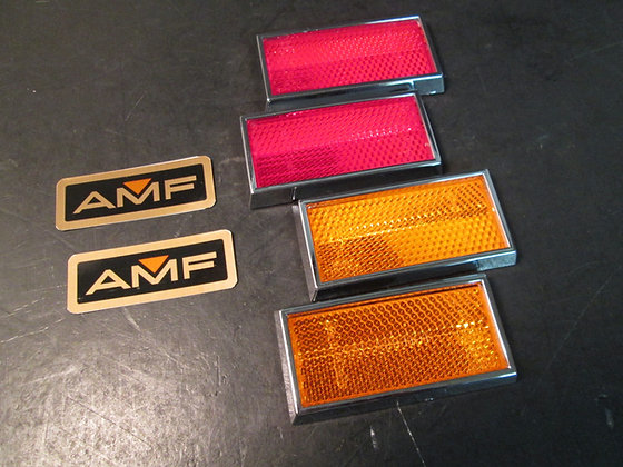 XLCR XR-1000 Pair Amber & Pair Red Reflectors Pair of AMF Decals