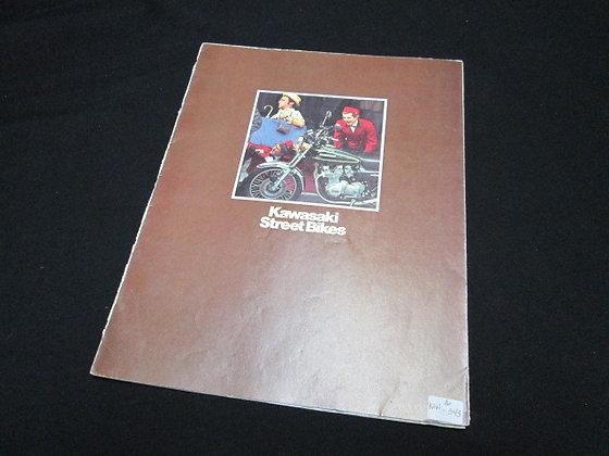 Kawasaki Street Bikes KH & KZ 1975 Sales Brochure