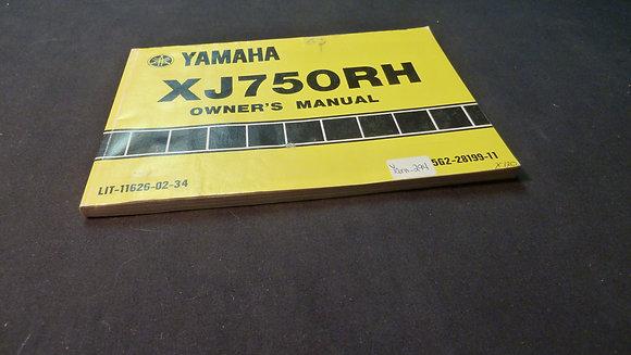 1981 Yamaha XJ750 RH Owners Manual