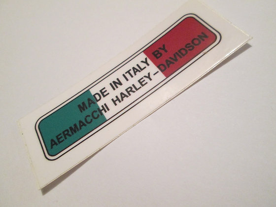 Harley XR XR750 Aermacchi Made In Italy Decal