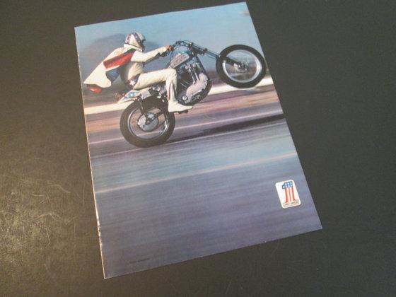 Harley Davidson Evel Knievel 1985 Line Up 1975 Flyer