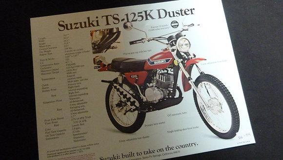 Suzuki TS-125K Duster TM-125K Challenger Sales Flyer