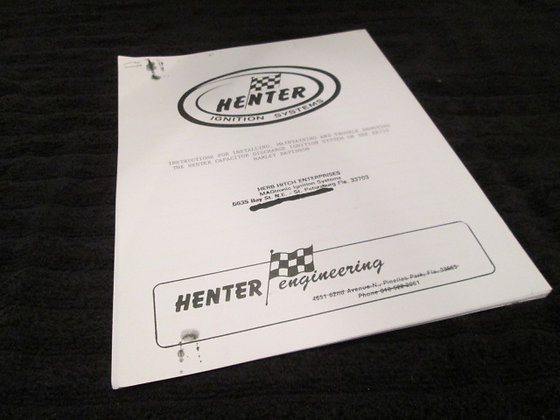 Henter Ignition Systems Instructions for Installation