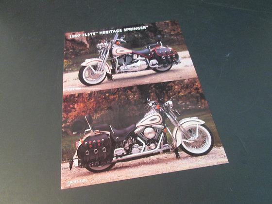 1997 Harley FLSTS Heritage Springer Sales Flyer