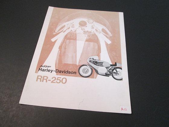 AMF Harley Davidson RR-250  RR-250 Sales Brochure