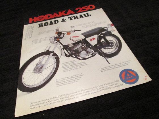 Hodaka 250 Road and Trail Sales Flyer