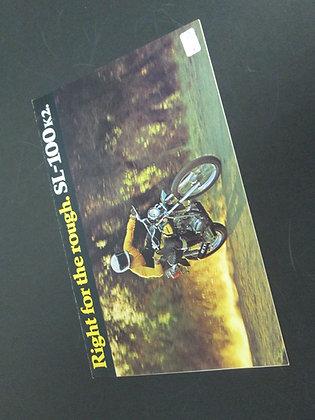 Honda SL-100 K2 Sales Brochure