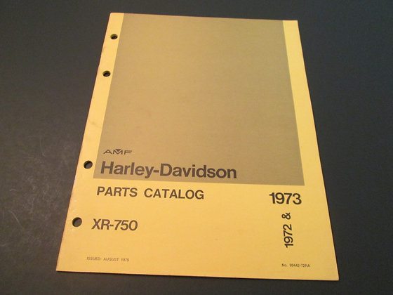 AMF Harley Davidson XR-750 1972-73 Parts Catalog