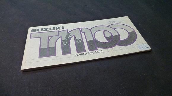 1975 Suzuki TM100 Owners Manual Part # 99011-28620