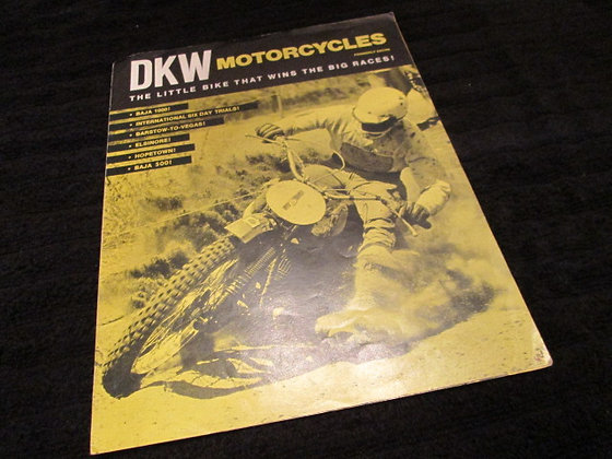 DKW Motorcycles 100cc & 125cc Sales Brochure