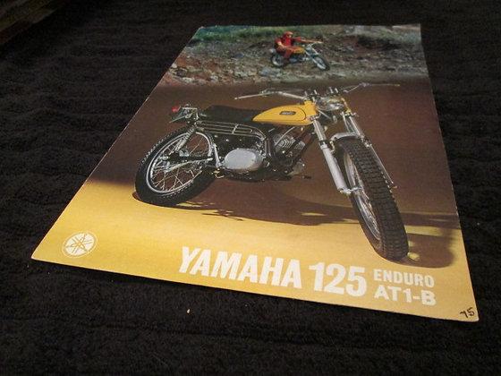 Yamaha 125 Enduro AT1-B Sales Brochure