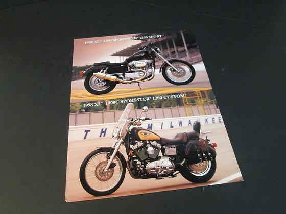 1998 Harley XL Sportster 1200 Sport & 1200C Custom Sales Flyer