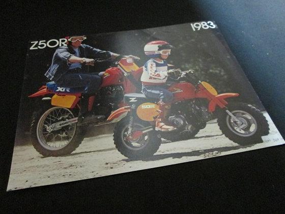 Honda 1983 Z50R Sales Flyer