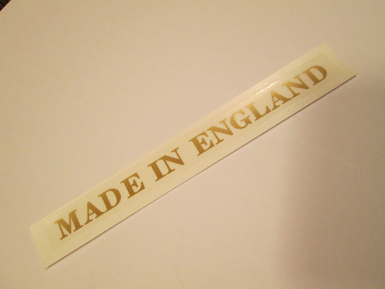 Made in England Decal Harley XR XRTT