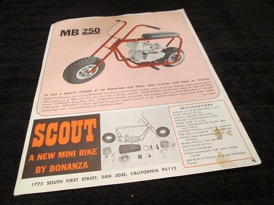 SCOUT MB250 Mini Bike Bonanza Sales Flyer