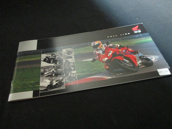 Honda Full Line 2003 Motorcycles Sales Brochure Specs and Info