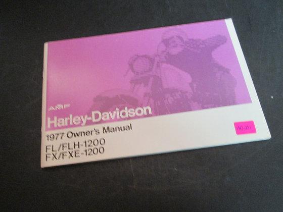1977 AMF Harley-Davidson FL/FLH-1200 FX/FXE-1200 Owners Manual