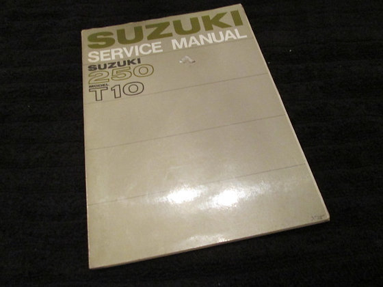 Suzuki 250 Model T10 Service Manual and Supplement