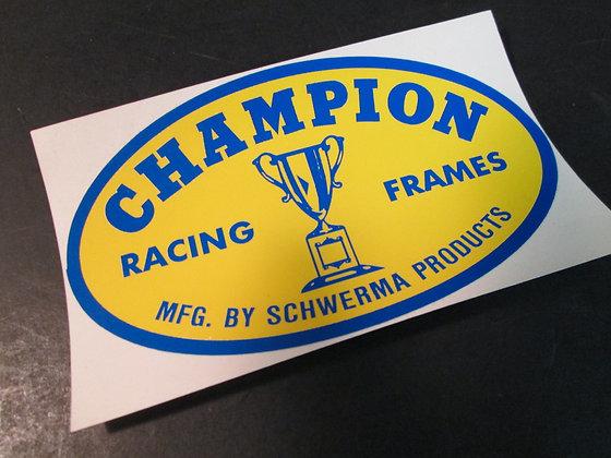 Champion Racing and Frame Decal