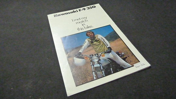 Kawasaki F-9 350 Sales Flyer Brochure