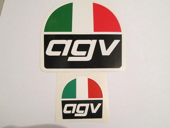 "1"" AGV Helmet Decal"