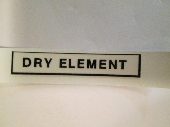 Dry Element Decals Harley Davidson XR XRTT