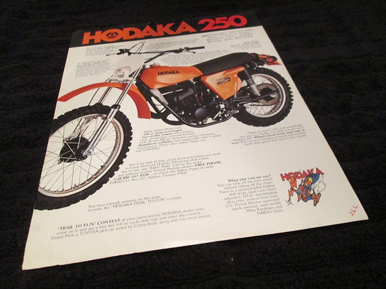 Hodaka 250 Sales Flyer