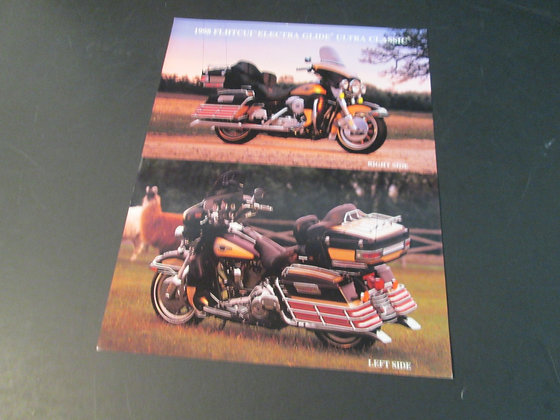 1998 Harley Davidson FLHTCUI Electra Glide Ultra Classic Sales Flyer