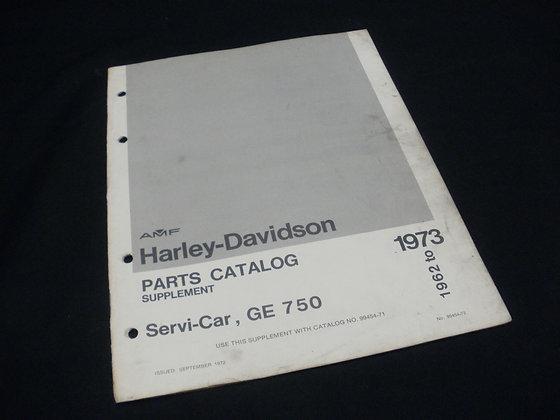 1962-73 AMF Harley-Davidson Parts Supplement for  Servi-Car, GE 750