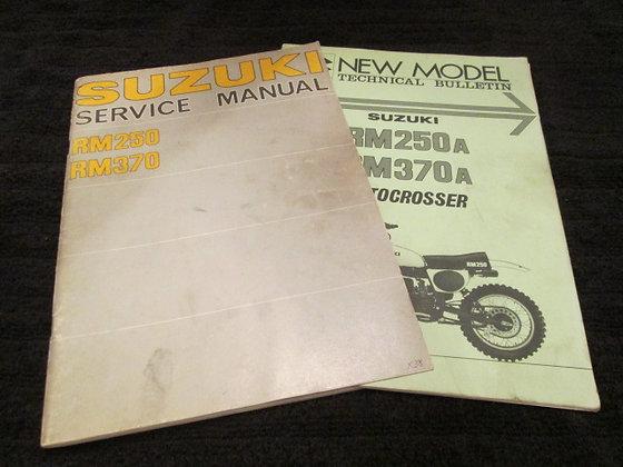 Suzuki RM250 RM370 Service Manual & RM250A RM370A Bulletin