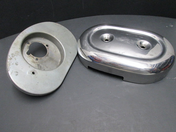 Chrome Air Cleaner Cover & Backing Plate
