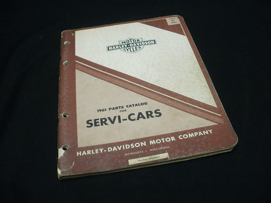 1951-61 Harley-Davidson Parts Catalog for Servi-Cars