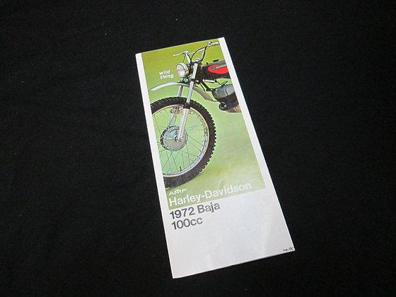 1972 AMF Harley-Davidson Baja Sales Brochure