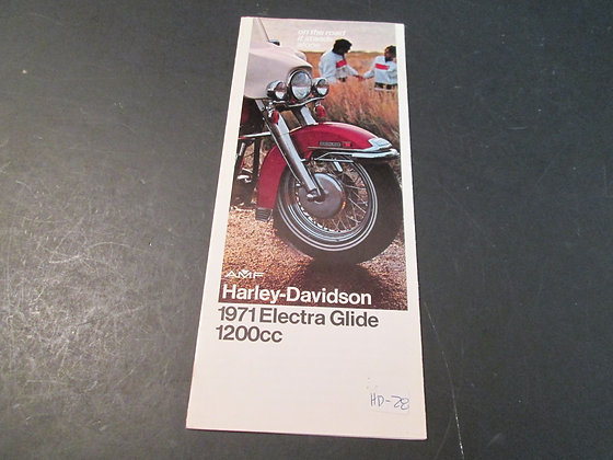AMF Harley Davidson 1971 Electra Glide Sales Brochure