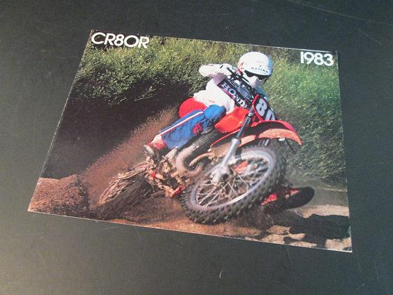 1983 Honda CR80R Sales Brochure