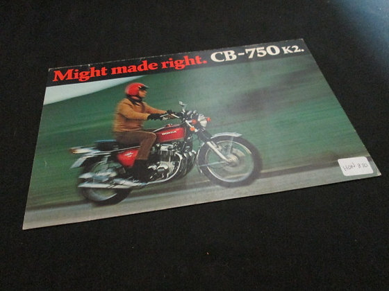 Honda CB-750 K2 1972 Sales Flyer