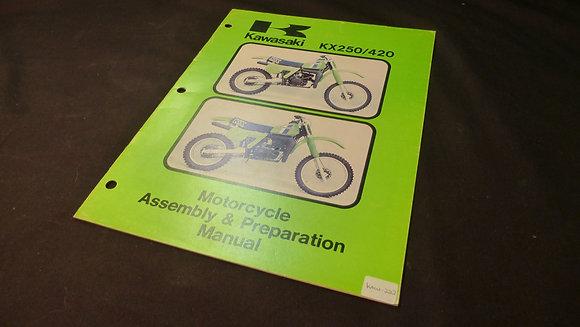 1980 Kawasaki K250A6 Motorcycle Assembly & Preparation Manual