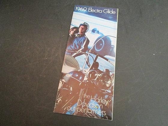 Harley-Davidson 1969 Electra Glide Sales Brochure