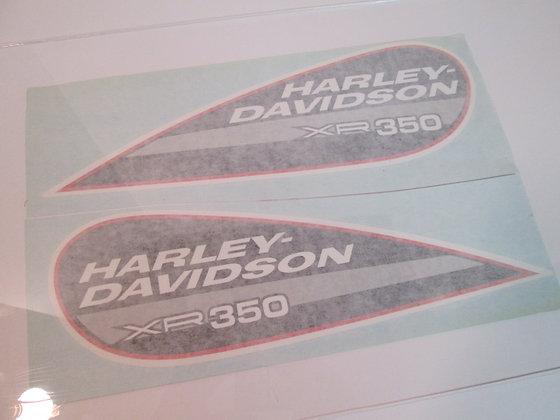 XR350 Harley Davidson Tear Drop Tank Decal