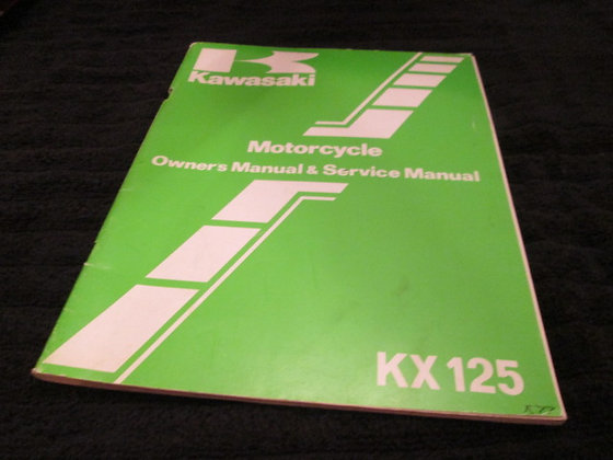 Motorcycle Owner's & Service Manual KX125