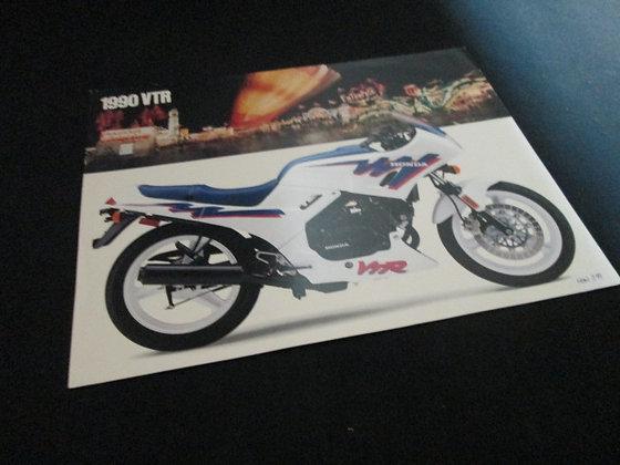 Honda 1990 VTR Sales Flyer