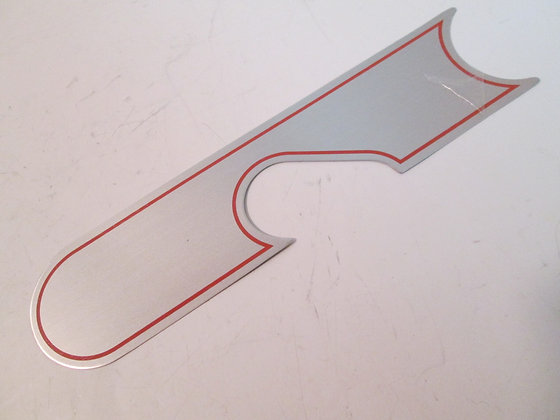 XR-1000 Aluminum Primary Cover Decal w Light Color