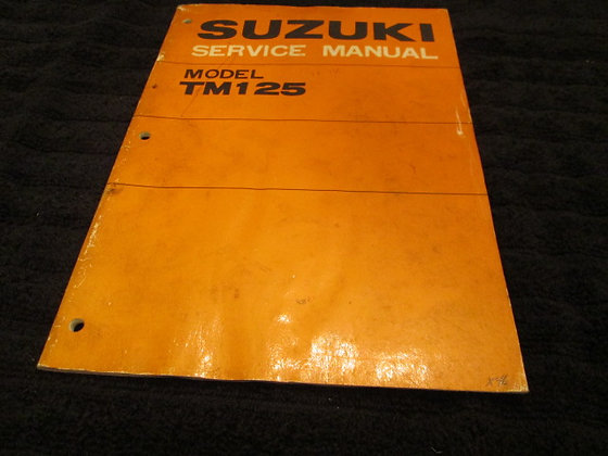 Suzuki Model TM125 Service Manual