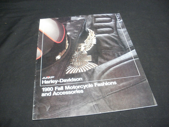 1980 AMF Harley-Davidson Fall Motorcycles Fashions and Accessories Catalog