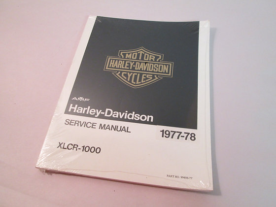 XLCR Service Manual Harley Davidson XLCR Café Race