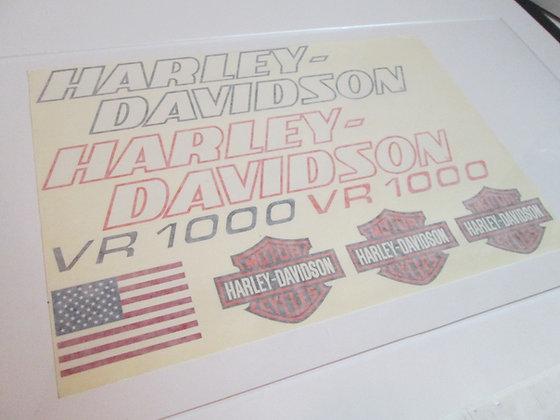VR-1000 Decals Harley Davidson VR1000
