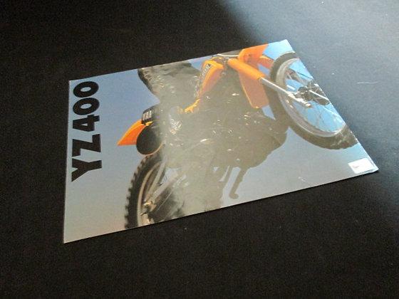 Yamaha YZ400 Sales Brochure