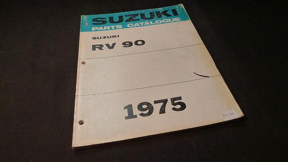 1975 Suzuki RV90 Parts Catalog