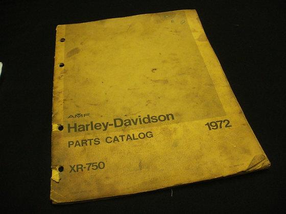 1972 AMF Harley-Davidson XR-750 Parts Catalog