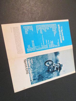 AMF Harley Davidson Sprint ERS  1971 Original Sales Brochure